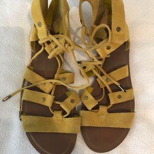 Yellow leather Dolce Vita gladiator sandals